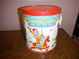 GNS 4134 Howdy Doody Tin, Groton, Vermont $69