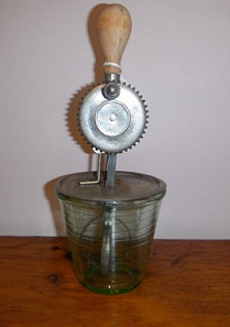 #110I Green Depression Glass Beater $39.00