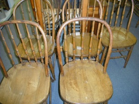 5 bowback chairs $349